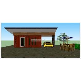 บ้านตู้คอนเทนเนอร์ผลิตไฟฟ้าสำเร็จรูป Solar PV Container Home รุ่น ATM8000-10kW