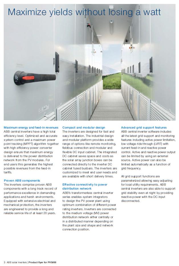 Grid Tie Inverter/ABB/Solar_inverter_PVS300 by solarcellcenter.com กริด อินเวอเตอร์