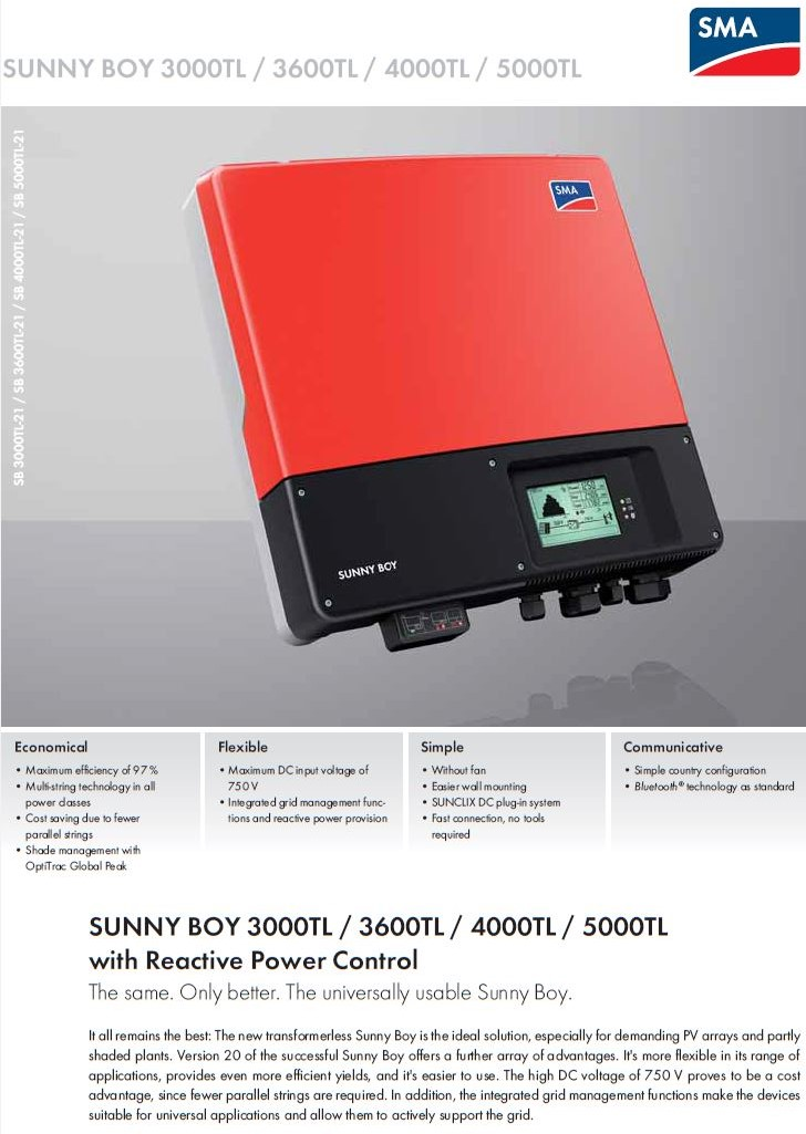 Grid Tie Inverter/SMA/SMA SUNNY BOYSB 5000TL