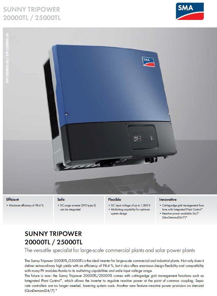 Grid Tie Inverter/SMA/STP 25000TL-30