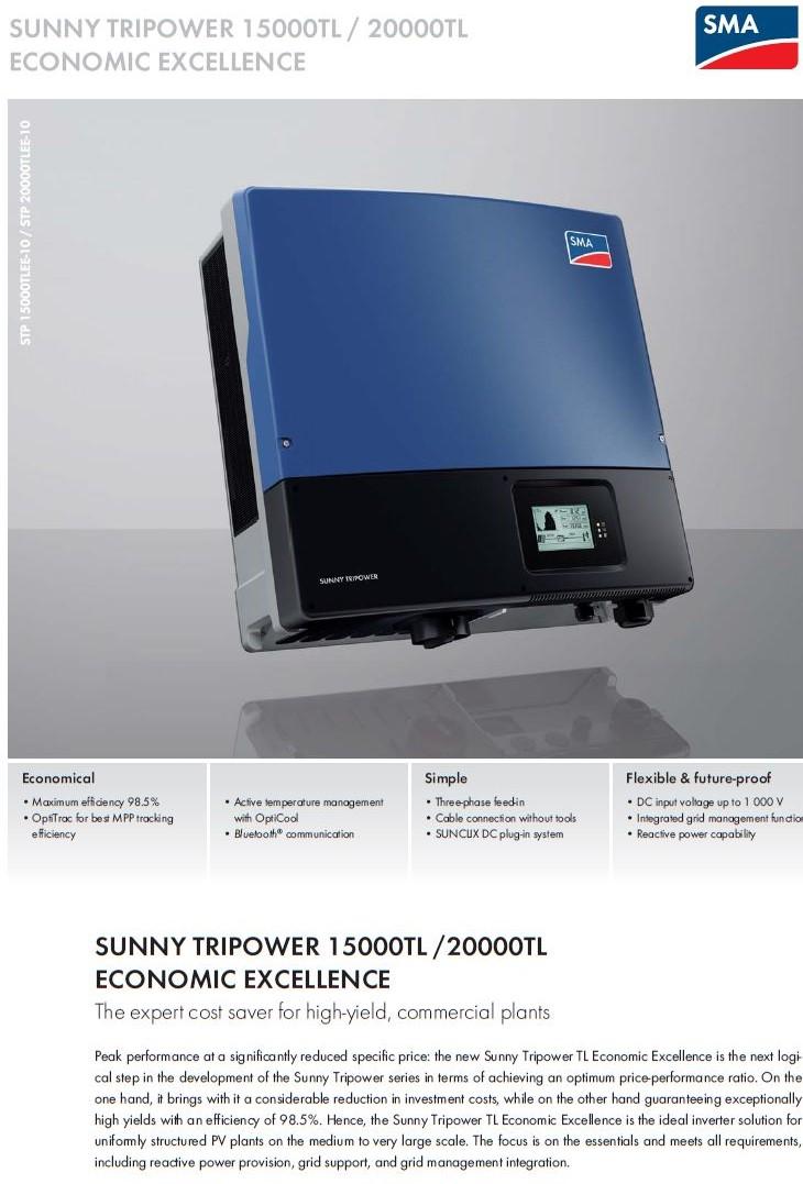 SMA/SUNNY TRIPOWER 15000TL-20000TL ราคาโรงงาน