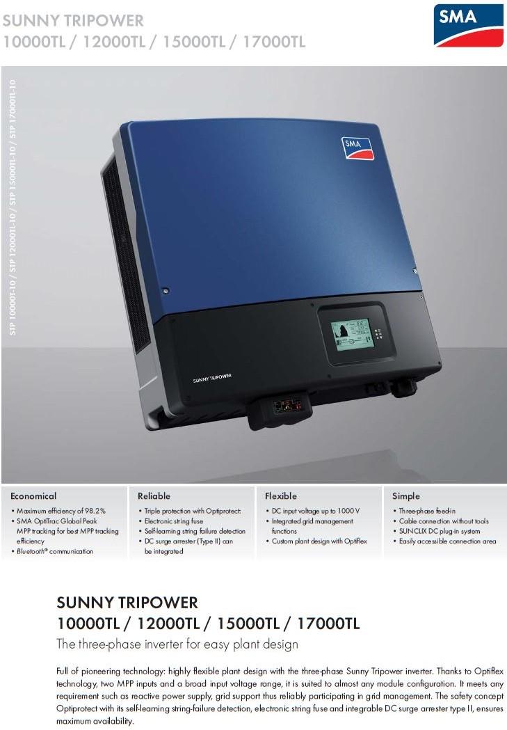 SMA/SUNNY TRIPOWER 17000TL Datasheet