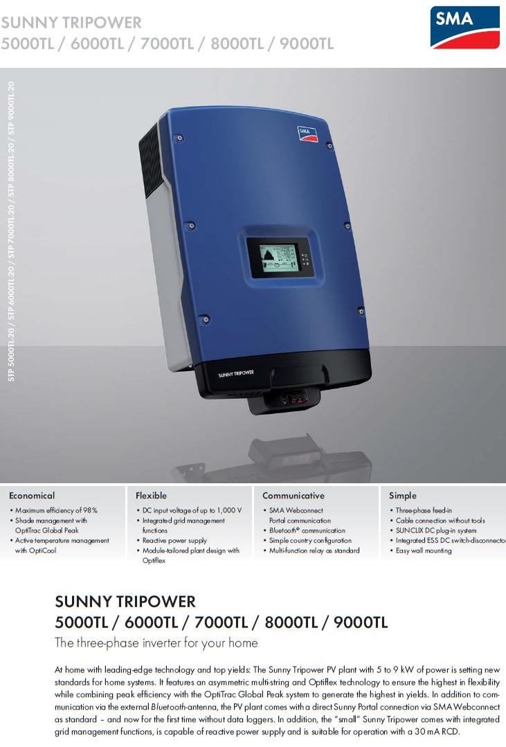 SMA/SUNNY TRIPOWER 9000TL datasheet