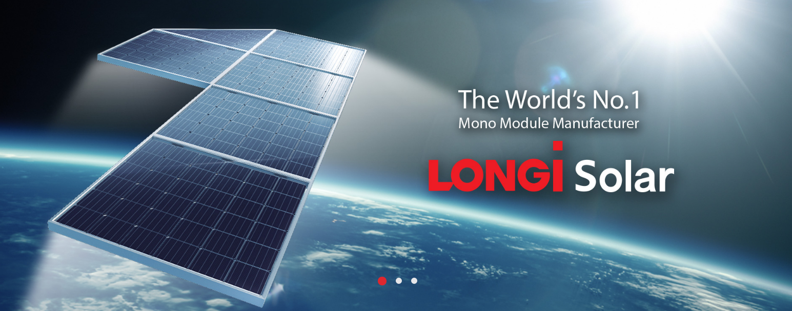 LONGi Solar Mono PV/A World leading mono-crystalline solar module manufacture for achieving best LCOE solutions