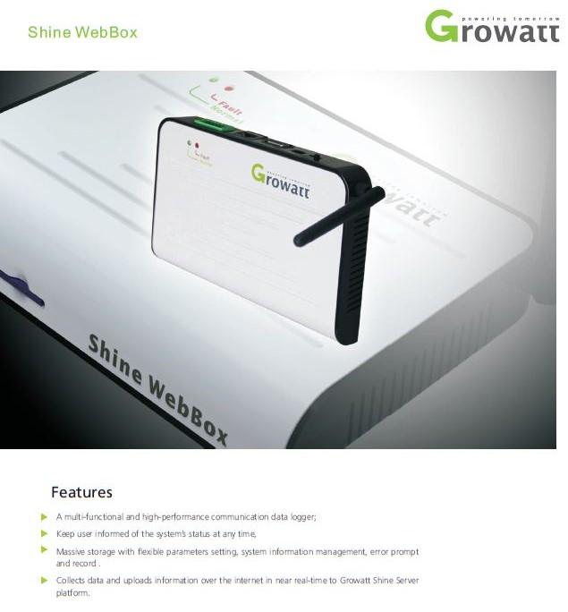 Shine webbox/Shine WebBox datasheet/Solar Cell Monitoring System