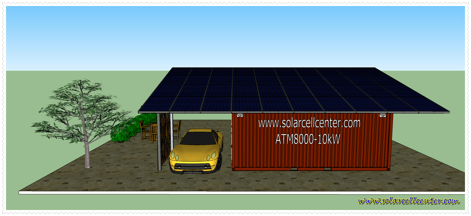 Container + Solar Cell 10Kw - TYPE1 - Back