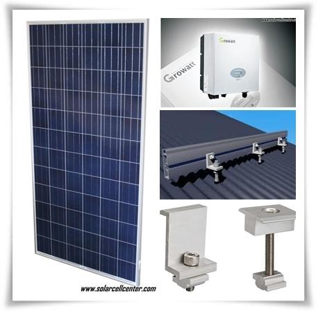 solarsell set-อุปกรณ์ติดตั้งมาตรฐานประกอบด้วย ชุดติดตั้งของแผงโซลาร์เซลล์ ASIAN-GROWATT